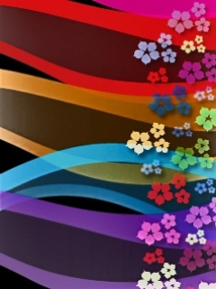 Colors Flowers Art Design Mobile Wallpaper