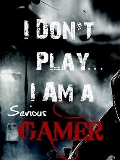 Serious Gamer Mobile Wallpaper