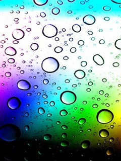 Colors Water Drops Mobile Wallpaper