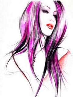 3D Color Hairs Mobile Wallpaper