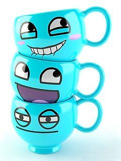 Smiley Cute Cups Mobile Wallpaper