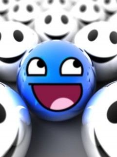 Blue Smile Mobile Wallpaper