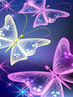 Colorful Butterfly Mobile Wallpaper