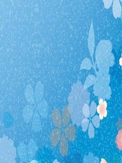 Blue Art Flowers Mobile Wallpaper