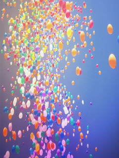 Cute Colors Ballooons Mobile Wallpaper