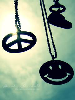 Happy Peace Love Mobile Wallpaper