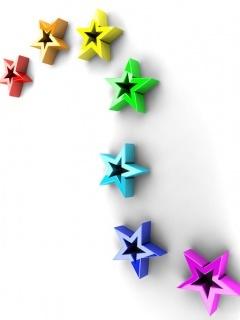 Stars Color Design Mobile Wallpaper