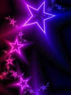 Neon Nigh Stars Mobile Wallpaper