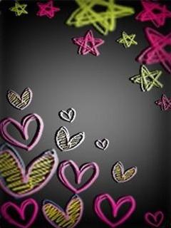 Star N Heart Mobile Wallpaper