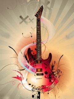 Art Guitar Mobile Wallpaper