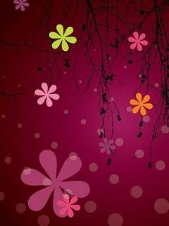 Violet Flowers Mobile Wallpaper