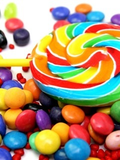Rainbow Sweet Candies Mobile Wallpaper
