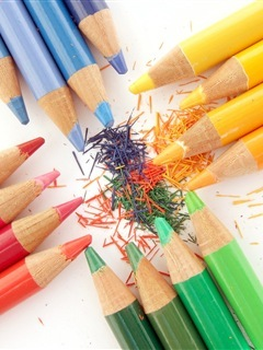 Colorful Pencils Mobile Wallpaper