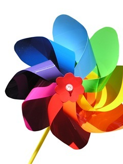 Colorful Paper Fan Mobile Wallpaper