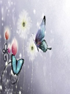 Butterflies On Flower Mobile Wallpaper