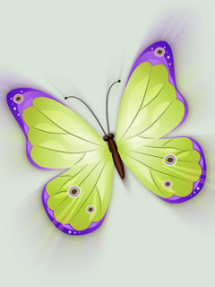 3D Butterfly Mobile Wallpaper