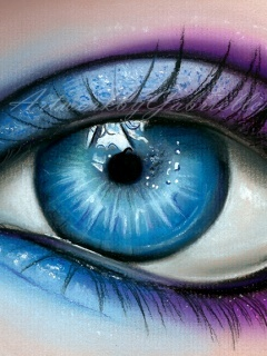 Beautiful Color Eye Mobile Wallpaper