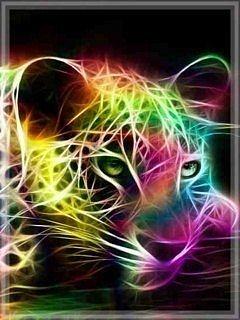 Neon Jaguar Mobile Wallpaper