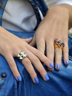 Blue Nails Girl Mobile Wallpaper