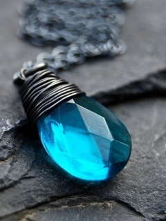 Jewelry Blue Mobile Wallpaper