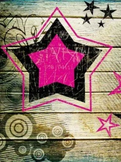 Retro Stars Mobile Wallpaper