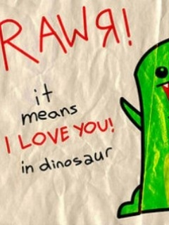 Rawr Means Love Mobile Wallpaper