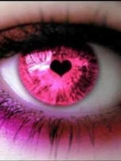 Pink Love Eye Mobile Wallpaper