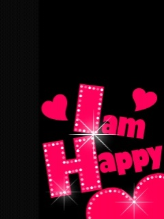 I Am Happy Mobile Wallpaper