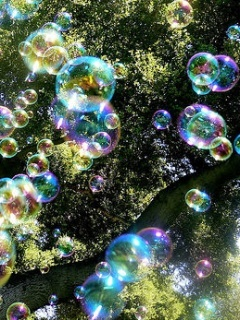 Color Bubbles  Mobile Wallpaper