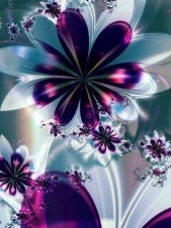 Digital Flowers Mobile Wallpaper