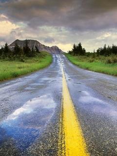 Alone Road Mobile Wallpaper