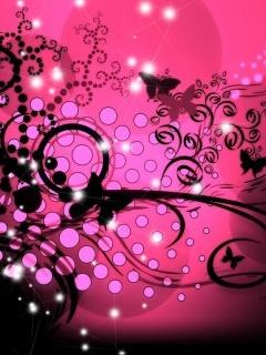 Pretty Pink Art Mobile Wallpaper