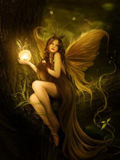 Fairy Angel Light Mobile Wallpaper