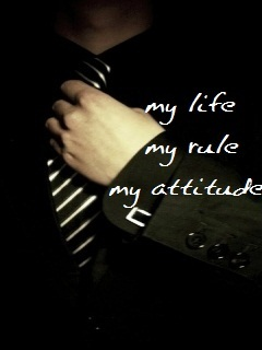 My Life My Attitude  Mobile Wallpaper