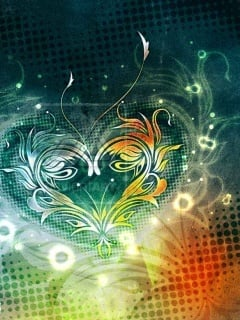 3D Abstract Heart Mobile Wallpaper