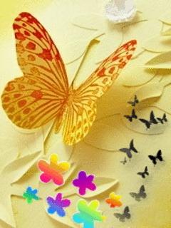 Butterfly Colors Art Mobile Wallpaper