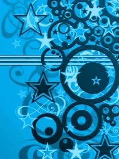 Blue Stars Mobile Wallpaper