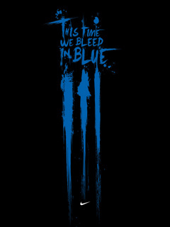 Blue Bleed Mobile Wallpaper