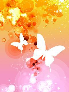 Butterfly And Oranges Art Mobile Wallpaper