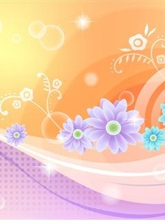 Flower Art Color Mobile Wallpaper