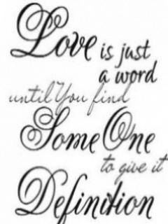 Love Just Word Mobile Wallpaper