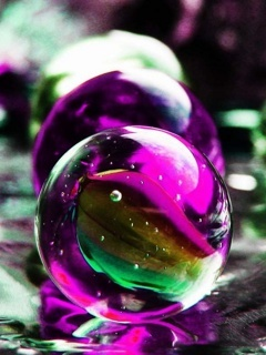 Digital 3D Balls Mobile Wallpaper