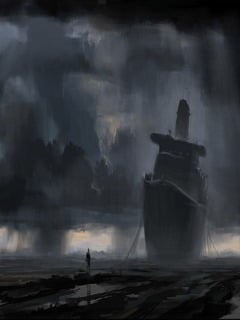 Dark And Ship Mobile Wallpaper