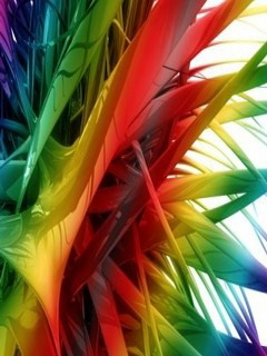 3D Rainbow Mobile Wallpaper