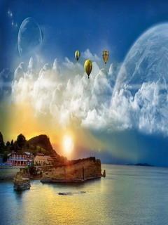 Amazing World Balloons Mobile Wallpaper