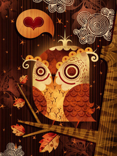 3D Art Owl Mobile Wallpaper