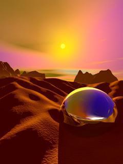 Sun 3D Ball Mobile Wallpaper