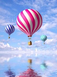 Cute Colors Ballooons Mobile Wallpaper