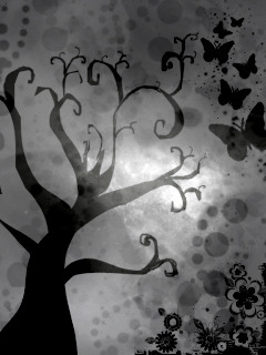 Gothic Tree Mobile Wallpaper