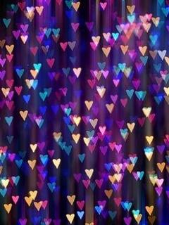 Hearts Beauty Mobile Wallpaper